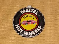 VINTAGE CAR RACING 1968 MATTEL FORD MK IV HOT WHEELS PIN BADGE BUTTON