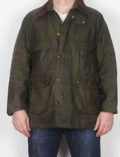 "BARBOUR Bedale Wax Jacket coat 42"" Green Medium Large (JCR) UK 16"