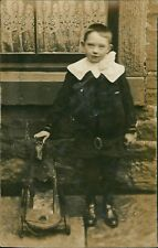 Young Boy Wooden Horse On Wheels   AG.280