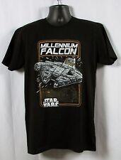 STAR WARS Mens Millennium Falcon  Death Star Black T-Shirt NWT Size LARGE