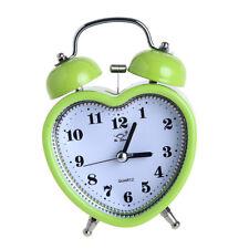 Sveglia analogica a batteria con comodino e luce notturna verde