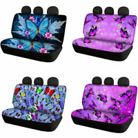 2pcs Butterfly Car Rear Seat Covers for Womens Auto Accessory Car Interior Cover