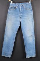 VTG 80s LEVI'S 501 Button Fly Denim Jeans USA Mens Size 33x33 Actual (29x30)
