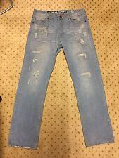 Jordan Craig Denim Men's Size 36x34 Blue Jeans Pants Washed Faded Light