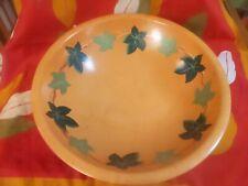 New listing 1940/50s Munising Primitive Wooden Bowl Lot w/ Green Ivy Leaves Rare Vintage
