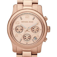 Michael Kors MK5128 Runway Rose Gold Chronograph Ladies Designer Watch RRP £299