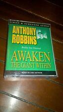 Awaken the Giant within: 1991 Vintage Anthony Robbins Tony Simon Schuster Audio