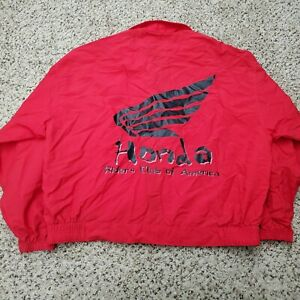 Vintage Honda Racing Riders Club of America Team Windbreaker Jacket Size Large