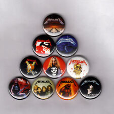"METALLICA 1"" PINS BUTTONS (cliff burton patch kill em all puppets lp shirt metal"