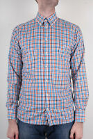 Eton Men`s Multicolored Gingham Check Dress Shirt  Size 40 15 3/4 Slim Fit
