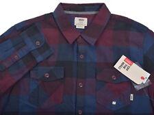 Vans Men's Casual Plaid Box Flannel Button Up Shirt Choose Size & Color