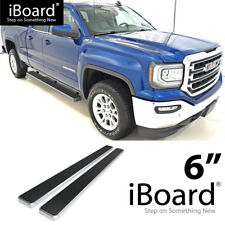 """6"""" eBoard Running Boards Fit Silverado/Sierra Double Cab 07-18"""
