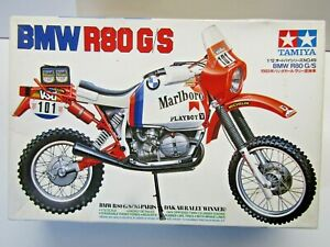 Tamiya Vintage 1:12 Scale Marlboro BMW R80 GS Paris Dakar Model Kit - New # 1449