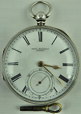 Antico Argento FUSEE Orologio Tasca John Forrest, london1896 in buono stato
