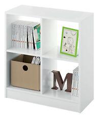Estanteria libreria baja 4 estantes 2x2 color blanco 70x66cm de despacho oficina
