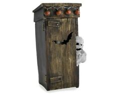Halloween Animated prop Sound & Motion Surprise Mummy hiding in the Outhouse