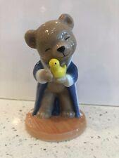 B&G Bing & Grondahl 2001 Victor Porcelain Teddy Bear Figurine Robe Bath Time