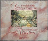 COFFRET 3 CD  INOUBLIABLES CHEFS-D'ŒUVRE UN MONDE DE MÉLODIES    CO80
