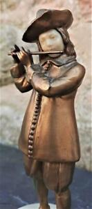 Superb Antique Gilt Bronze Sculpture of Young Flutist - Style of Georges Omerth