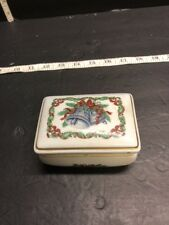 1985 Heritage House Melodies of Christmas Silver Bells Musical Box.