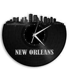 New Orleans Vinyl Wall Clock Skyline Cityscape Exclusive Design Home Decor Gift