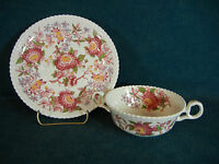 Copeland Spode Spode's Aster Cream Soup Bowl with Under Plate Set(s)