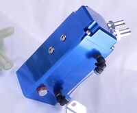 Oil Catch Can 15mm Fittings Universal Alloy Breather Tank Catcher Blue Square