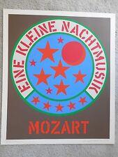"""Robert Indiana """"Eine Kleine Nachtmusik"""" Serigraph Hand Signed & Numbered WOW"""