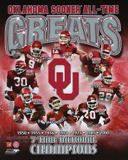 OKLAHOMA SOONER All-Time Greats Glossy 8x10 Photo Sims Peterson Murray Poster