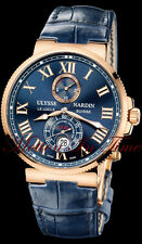 Ulysse Nardin Maxi Marine Chronometer 43mm Rose Gold, Crocodile Strap 266-67/43