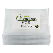 400 6x10 4Mil Embossed FoodVacBags Pint Vacuum Sealer Bags for FoodSaver Machine