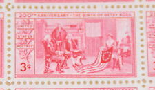 1952 sheet - Betsy Ross and the American Flag Sc# 1004