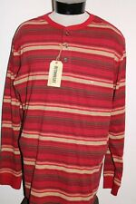 NEW NWT OUTDOOR LIFE Mens 2XL XXL striped Henley T shirt Combine ship Discount