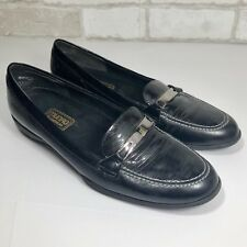 MUNRO AMERICAN Brook Black Patent Leather Snake Loafer Driving Moc 9N (C5)
