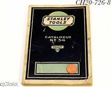 planes chisels other STANLEY TOOLS 34 CATALOG 1927 original color page plates
