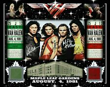 VAN HALEN AUTO/SIGNED RP PHOTO AUG 4, 1981 W/ MAPLE LEAF GARDENS RED-GREEN SEAT