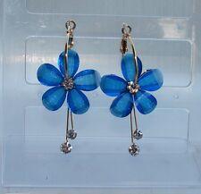 grandi Orecchini componibili con CRISTALLI da Donna blu elettrico