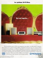 Publicité advertising 1997 Chaine Hi Fi Diva Pioneer