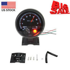 3.75'' 0-8000RPM Universal Car Tachometer Tacho Gauge Meter LED Shift Light U5E9