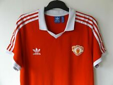 extremely rare ADIDAS MANCHESTER UNITED 1980-82 home football shirt jersey XL
