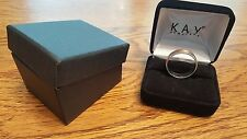 Kay Jewelers wedding band 10K Two-Tone White and Rose Gold 6mm. size 10.