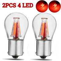2x Red 4 LED 1157 BAY15D 21/5W Car Reverse Backup Tail Stop √ DY