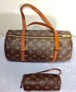 VINTAGE Louis Vuitton PAPILLON Monogram w/POUCH Purse, Handbag ~ Discontinued