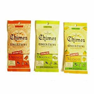 Chimes' Ginger Chews - Variety 3 Pack - Original Mango and Orange