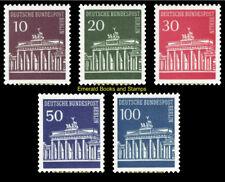 EBS West Berlin 1966 Brandenburg Gate Definitives Michel 286-290 MNH**