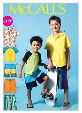 McCall's Sewing Pattern 6548 Childrens Boys 3-6 Easy Shirt Top Tee Shirt Shorts