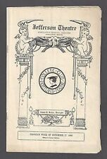 """Rachel Crothers """"LET US BE GAY"""" Dulcie Cooper / Portland Maine 1930 Playbill"""