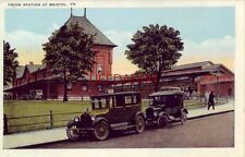 Union Station At Bristol, Va. 1920's era autos