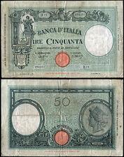 50 Lire Barbetti 31/31943 Azzolini - Urbini