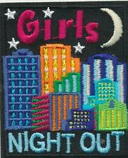 Girl GIRLS NIGHT OUT in the city Fun Patches Crests Badge SCOUT GUIDE Party town